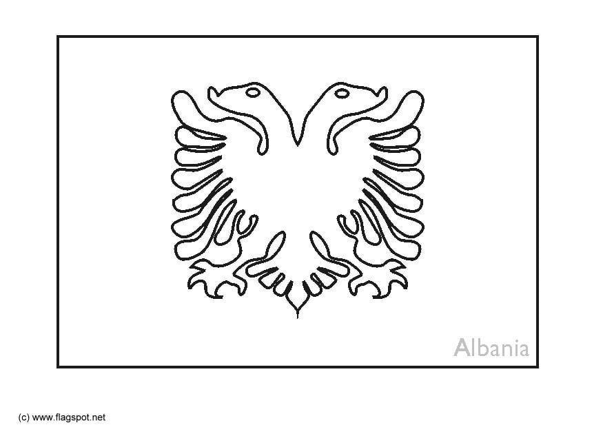 kleurplaat albanie afb 6364