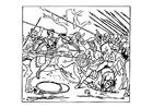 Kleurplaat Alexander verslaat de Perzen