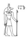 Kleurplaat Anubis