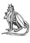 Kleurplaat Atlantische draak