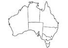 Kleurplaat Australië