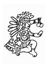 Kleurplaat Azteken