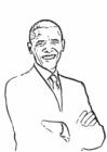 Kleurplaat Barack Obama