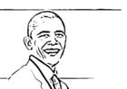 Kleurplaat President Barack Obama