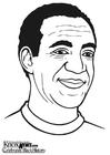 Kleurplaat Bill Cosby