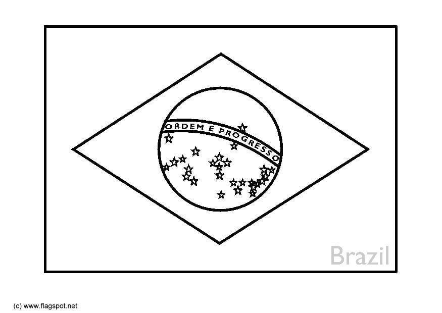 Kleurplaten Voetbal Brazilie.Vlag Brazilie Kleurplaat Braziliaanse Vlag Kleurplaat Kleurplaten Wk