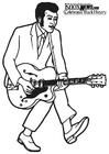 Kleurplaat Chuck Berry