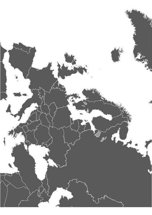 kleurplaat kaart europa afb 8299