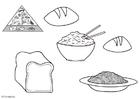 Kleurplaat Graanprodukten