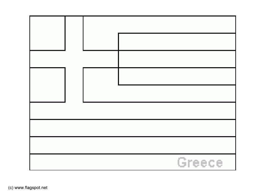 Kleurplaten Vlaggen Europa.Kleurplaat Griekenland Afb 6370 Images