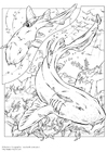Kleurplaat Haaien