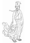 Kleurplaat Huang Tingjian