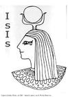 Kleurplaat Isis