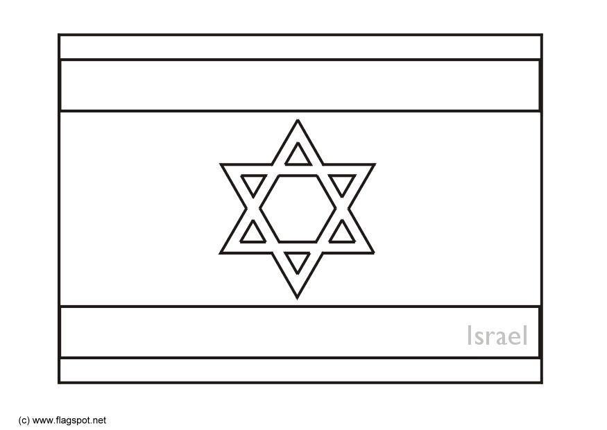 kleurplaat israel afb 6285