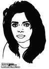 Kleurplaat Janet Jackson
