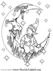 Kleurplaat Kleine Elf 2