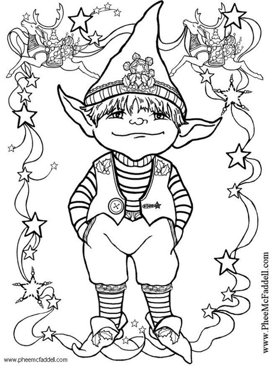 Kleurplaten Van Elfen.Kleurplaat Kleine Elf Gratis Kleurplaten Om Te Printen