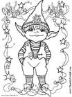 Kleurplaat Kleine Elf