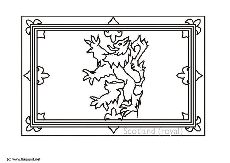 kleurplaat koninklijk vaandel schotland gratis