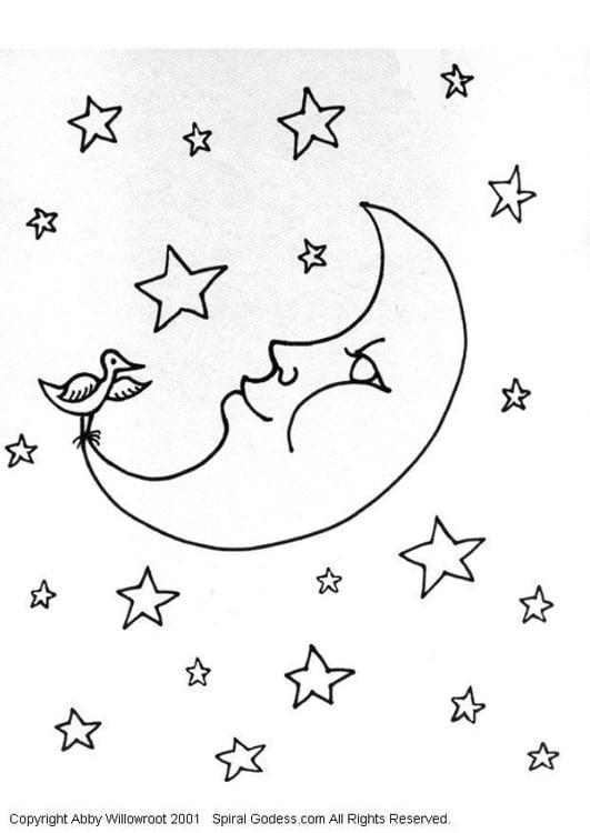 kleurplaat maan gratis kleurplaten om te printen