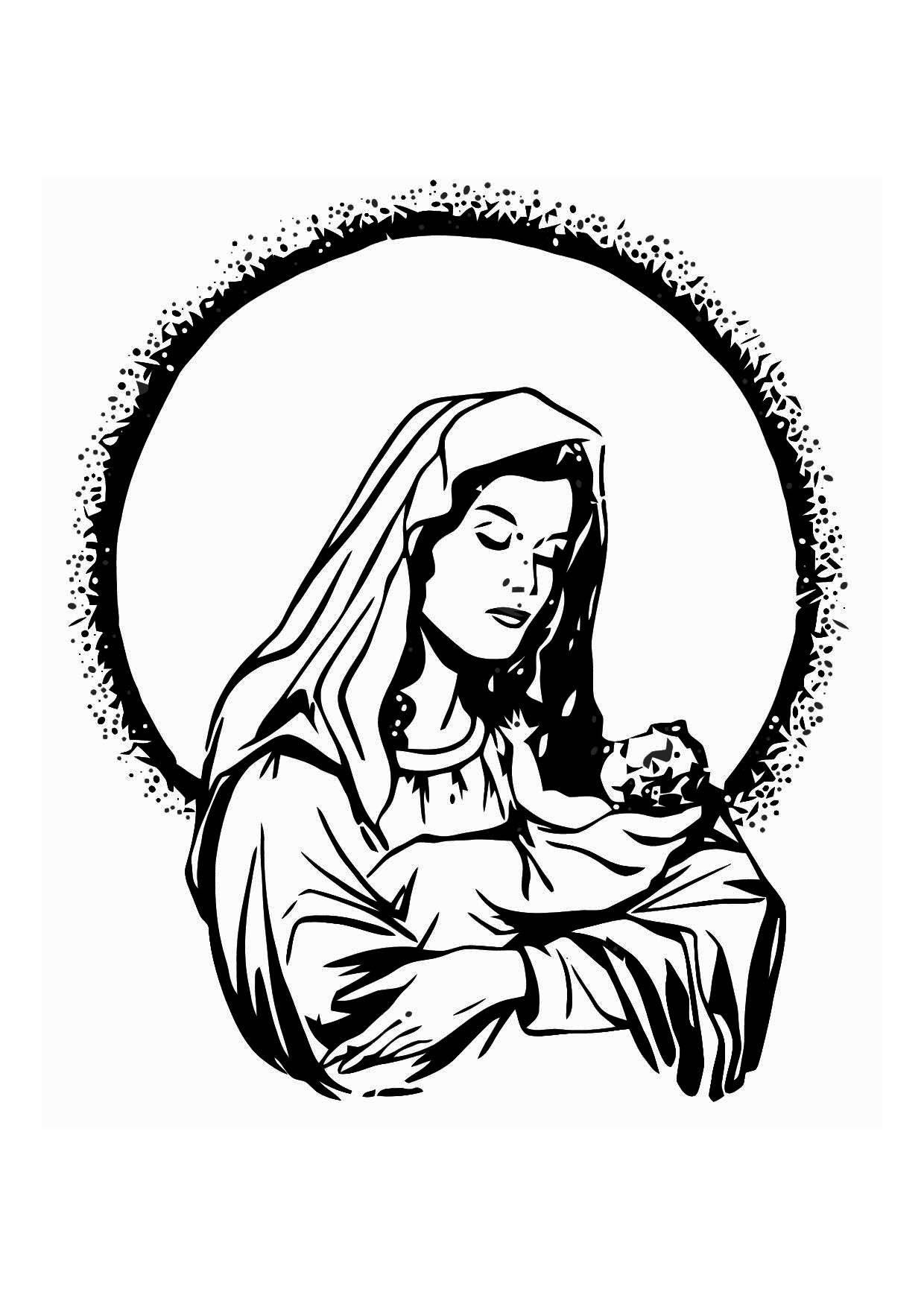 Kleurplaat Palmzondag Kleurplaat Maria En Jezus Gratis Kleurplaten Om Te Printen