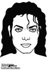 Kleurplaat Michael Jackson