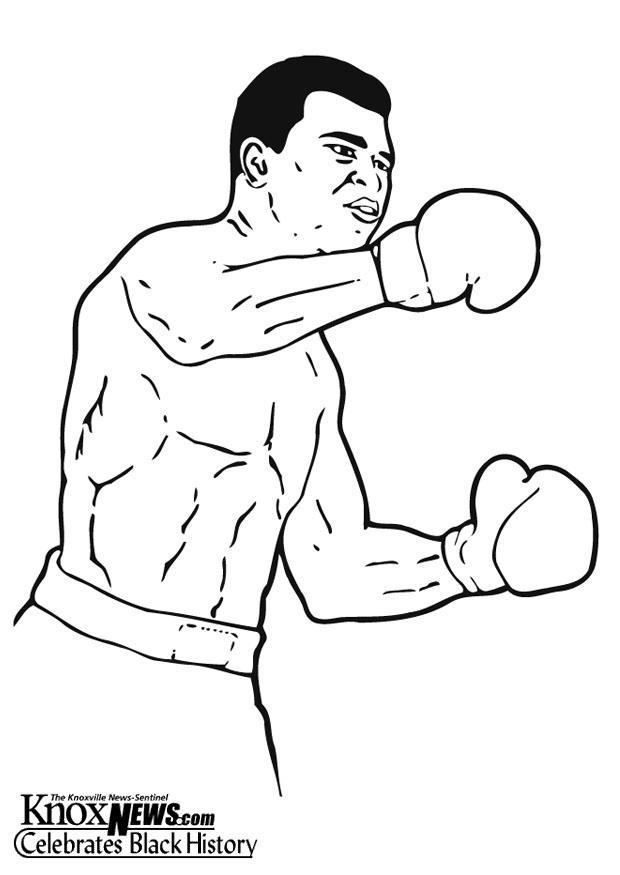 Kleurplaat Muhammad Ali Afb 13333