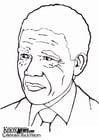 Kleurplaat Nelson Mandela