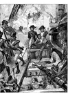 Kleurplaat Nelson in Trafalgar