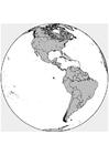 Kleurplaat Noord- en Zuid-Amerika