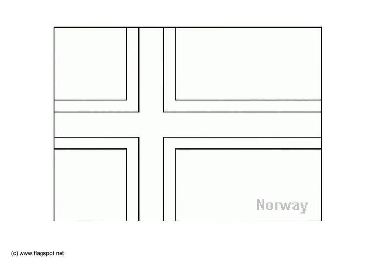 kleurplaat noorwegen afb 6157