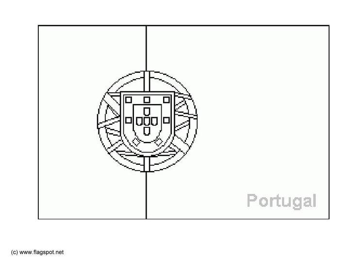 kleurplaat portugal afb 6381