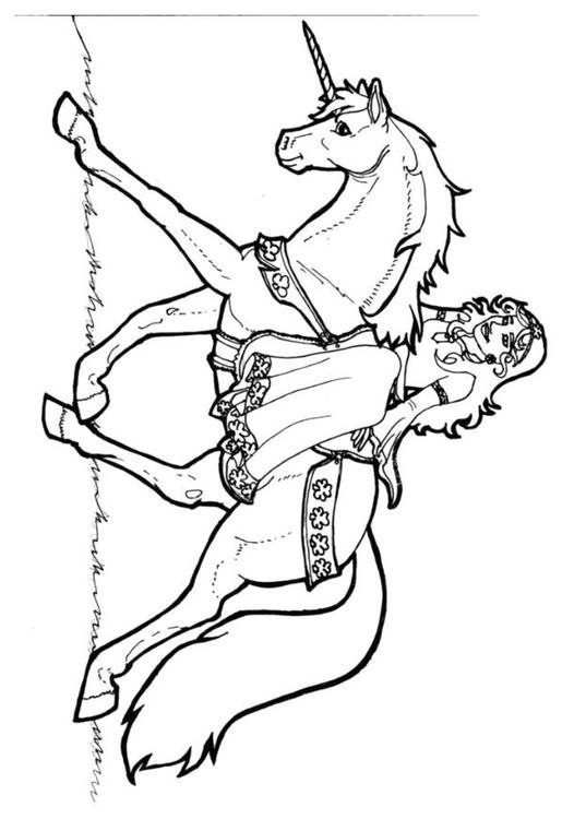 Kleurplaten Dansende Prinses.Kleurplaat Prinses Van Shamrock Op Eenhoorn Afb 7136