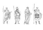 Kleurplaat Romeinse mannen