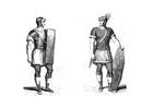 Kleurplaat Romeinse soldaten