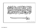 Kleurplaat Saudi Arabie