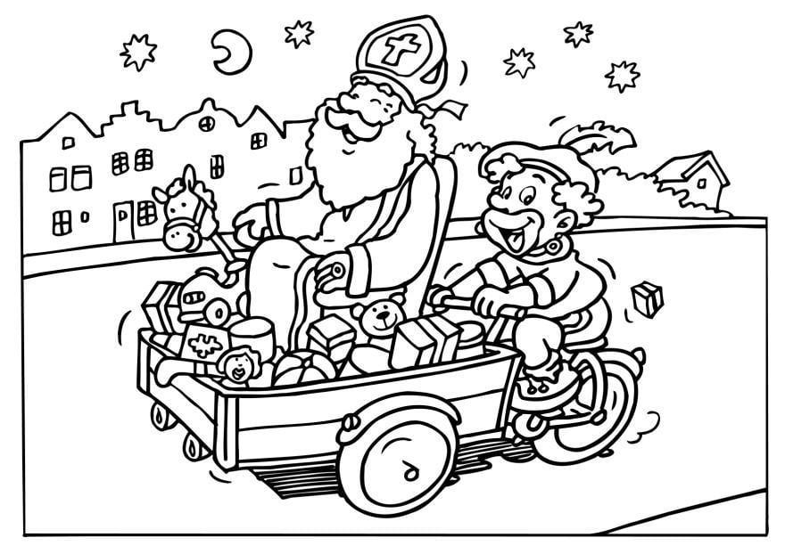 Sinterklaas Kleurplaaten Om Uit Te Printen Kleurplaat Sint En Piet Afb 6542