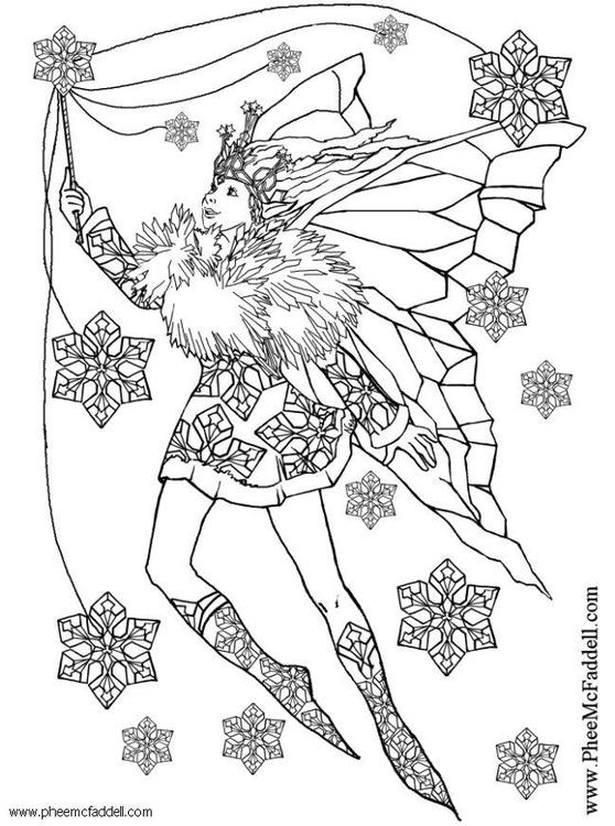 Kleurplaat Spookjes Kleurplaat Sneeuwvlok Fee Afb 6117