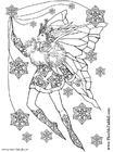 Kleurplaat Sneeuwvlok Fee