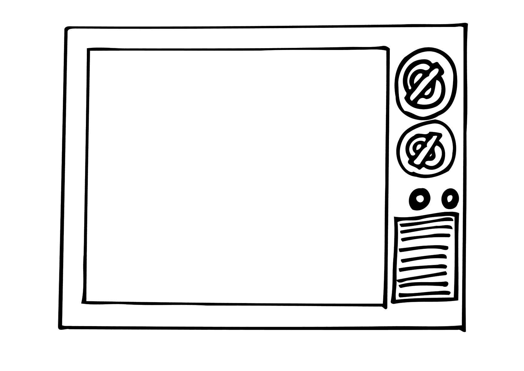 kleurplaat tv afb 12296