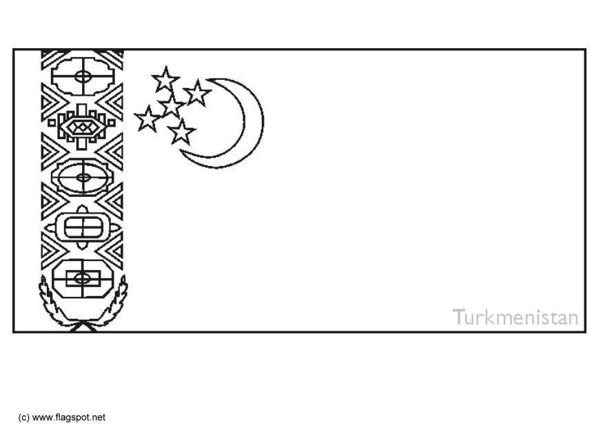 Kleurplaat Turkmenistan Afb 6314