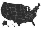 Kleurplaat USA
