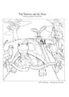 Kleurplaat Van de haas en de schildpad