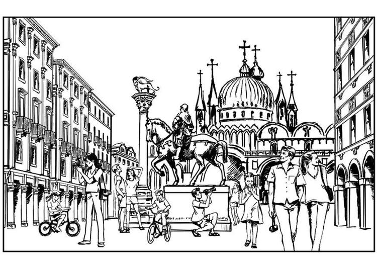 Kleurplaten Van Italie.Kleurplaat Venetie Italie Gratis Kleurplaten Om Te Printen