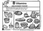 Kleurplaat Vitamine B in onze voeding