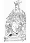 Kleurplaat Yue Fei