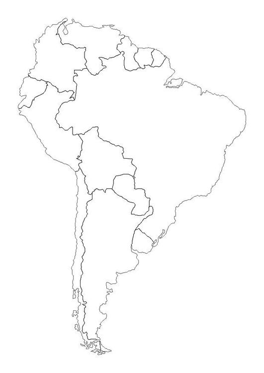 Kleurplaat Europa Kaarten Kleurplaat Zuid Amerika Afb 10700