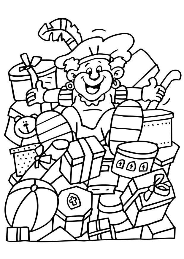 Kleurplaten Sinterklaas Zwarte Piet.Kleurplaat Zwarte Piet Afb 8673 Images