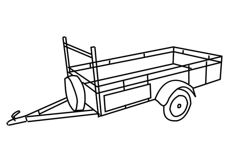 Kleurplaat Aanhangwagen Afb 29176