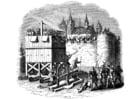 Kleurplaat aanval op kasteel